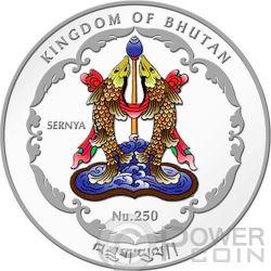 MAITREYA BUDDHA World Heritage Vietnam Silber Münze Bhutan 2014