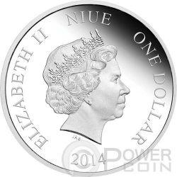 SEASON GREETINGS Christmas Mickey And Friends Disney 1/2 Oz Plata Proof Moneda 1$ Niue 2014