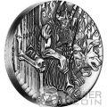 HADES ADE Dei Olimpo Gods of Olympus Alti Rilievi Moneta Argento 2 Oz 2$ Tuvalu 2014