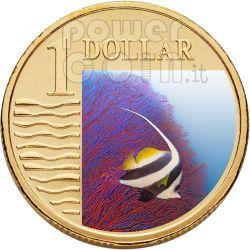 LONGFIN BANNERFISH OCEAN SERIES Moneda 1$ Australia 2007