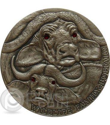 BUFFALO Wildlife Family 4 Oz Silver Coin 10$ Niue 2014