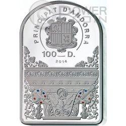 MADONNA IN FLORAL WREATH Peter Paul Rubens 1 Kg Kilo Серебро Монета 100D Андора 2014