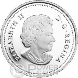 INTERCONNECTIONS Air Thunderbird Hologram Moneda Plata 20$ Canada 2014