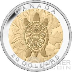 TRUTH Turtle Seven Sacred Teachings First Nations Silver Coin 20$ Canada 2014