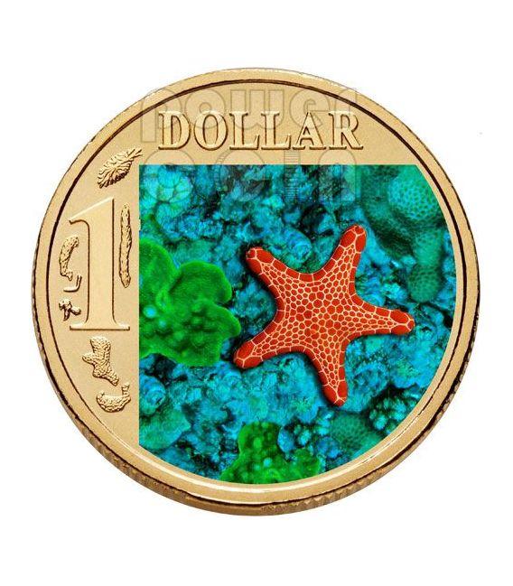BISCUIT STARFISH OCEAN SERIES Münze 1$ Australia 2007