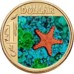 BISCUIT STARFISH OCEAN SERIES Монета 1$ Австралия 2007