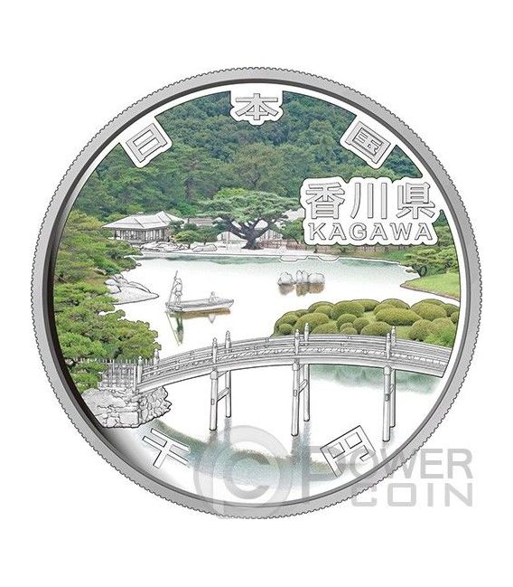 KAGAWA 47 Prefectures (36) Silber Proof Münze 1000 Yen Japan 2014