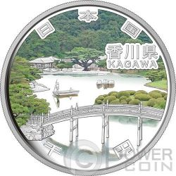 KAGAWA 47 Prefetture (36) Moneta Argento 1000 Yen Giappone 2014
