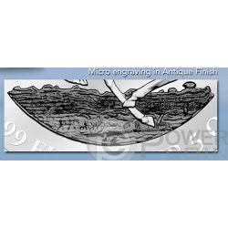AFRICAN SPRINGBOK Antelope 5 oz Silver Coin 3000 Francs Gabon 2014