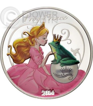 FROG PRINCE Fairy Tales 1 oz Silver Proof Coin 1000 Francs Benin 2014