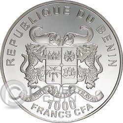 FROG PRINCE Principe Ranocchio Moneta Argento Proof 1000 Franchi Benin 2014