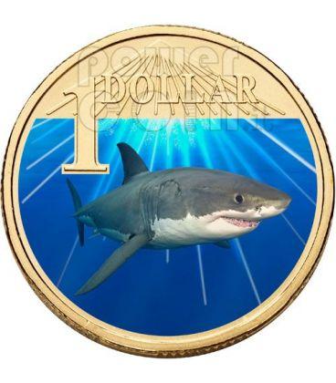 WHITE SHARK OCEAN SERIES Coin 1$ Australia 2007