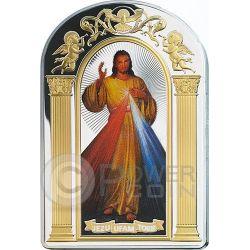 DIVINE MERCY Jesus Adolf Hyla Cracovia Moneta Argento 2$ Tokelau 2014