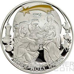 HOLY THREE KINGS Re Magi Biblical Stories Moneta Argento 2$ Palau 2014