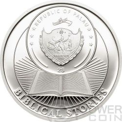 HOLY THREE KINGS Biblical Stories Moneda Plata 2$ Palau 2014