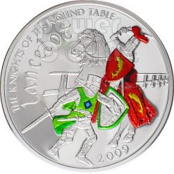 LANCILLOTTO Cavaliere Tavola Rotonda Moneta Argento 5$ Cook Islands 2009