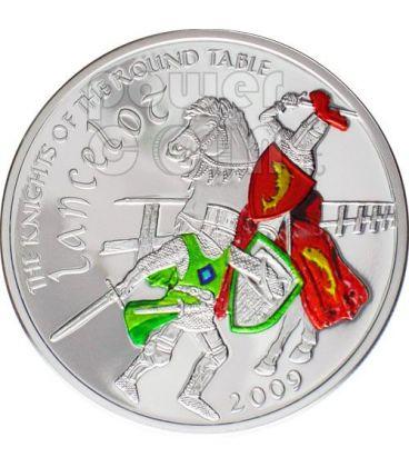 LANCILLOTTO Cavaliere Tavola Rotonda Moneta Argento 5$ Cook Islands 2009