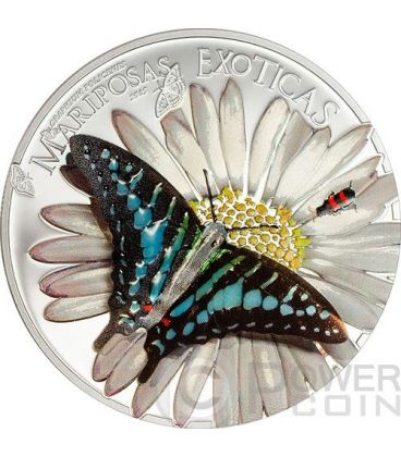 FARFALLA 3D Farfalle Esotiche Moneta Argento 1000 Franchi Guinea Equatoriale 2015