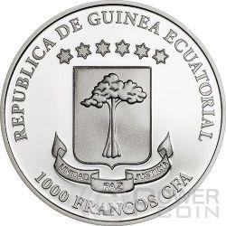 BUTTERFLY 3D Exotic Butterflies Серебро Монета 1000 Франков Экваториальная Гвинея 2015