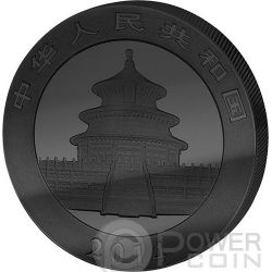 GOLDEN ENIGMA Panda Black Ruthenium 1 Oz Moneda Plata 10 Yuan China 2014
