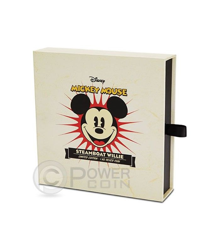 Steamboat Willie Mickey Mouse Disney 1 Kg Kilo Silber Proof Münze