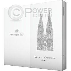 WINDOWS OF HEAVEN GIANTS COLOGNE Cathedral Set 3 Серебро Монета 20$ Острова Кука 2014