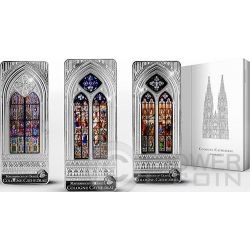 WINDOWS OF HEAVEN GIANTS COLOGNE Cathedral Set 3 Silber Münze 20$ Cook Islands 2014