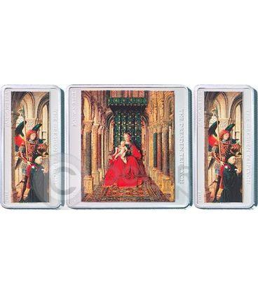 TRITTICO DI DRESDA Jan Van Eyck Set 3 Monete Argento 1$ 2$ Tokelau 2014