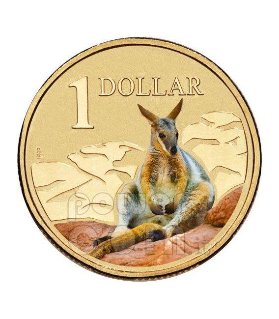 ROCK WALLABY LAND SERIES Kangaroo Moneda 1$ Australia 2009
