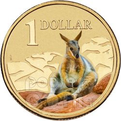 ROCK WALLABY LAND SERIES Canguro Moneta 1$ Australia 2009