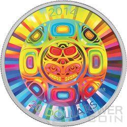 INTERCONNECTIONS Sea Orca Hologram Silver Coin 20$ Canada 2014