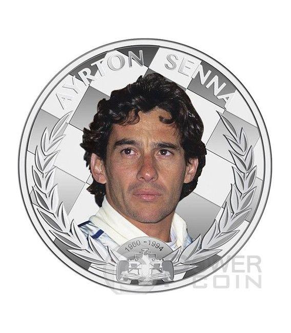 AYRTON SENNA Formula One World Champion Anniversary 1 oz Moneda Plata 2$ Niue 2014