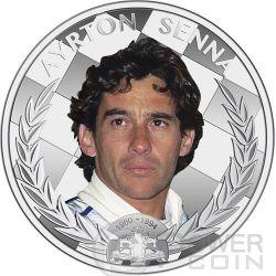 AYRTON SENNA Formula One World Champion Anniversary 1 oz Silver Coin 2$ Niue 2014