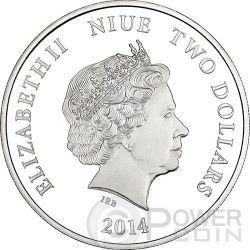 AYRTON SENNA Formula One World Champion Anniversary 1 oz Silber Münze 2$ Niue 2014