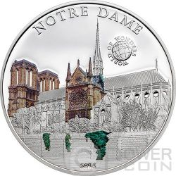NOTRE DAME Cattedrale World Of Wonders Moneta Argento 5$ Palau 2014