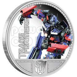 TRANSFORMERS OPTIMUS PRIME Hasbro Silber Münze 1$ Tuvalu 2009