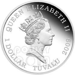 TRANSFORMERS OPTIMUS PRIME Hasbro Серебро Монета 1$ Тувалу 2009