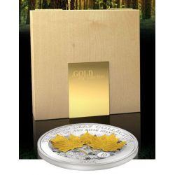 MAPLE LEAF 3D Gold Leaf Collection 1 Oz Silber Münze 10$ Samoa 2014