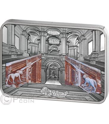 PALACE OF CASERTA Reggia Italy Grand Interiors Silver Coin 10$ Cook Islands 2014