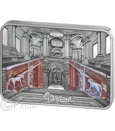 REGGIA DI CASERTA Palace Grand Interiors Moneta Argento 10$ Cook Islands 2014