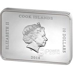 PALACE OF CASERTA Reggia Italy Grand Interiors Moneda Plata 10$ Cook Islands 2014