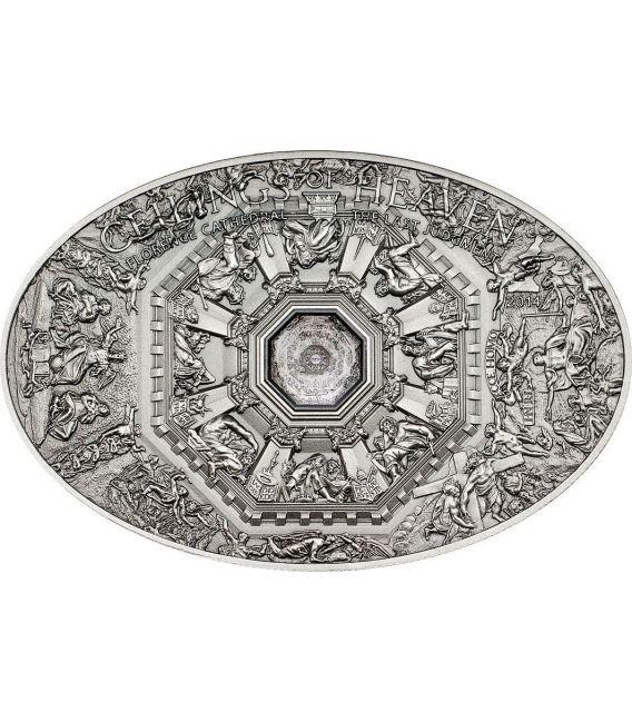 NANO LAST JUDGMENT Florence Cathedral Ceilings of Heaven Серебро Монета 5$ Острова Кука 2014
