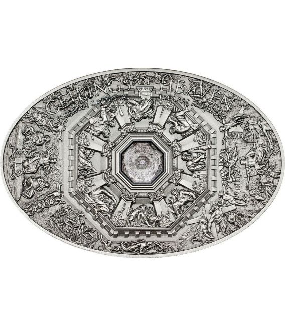 NANO LAST JUDGMENT Florence Cathedral Ceilings of Heaven Silver Coin 5$ Cook Islands 2014