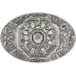 NANO LAST JUDGMENT Florence Cathedral Ceilings of Heaven Moneda Plata 5$ Cook Islands 2014
