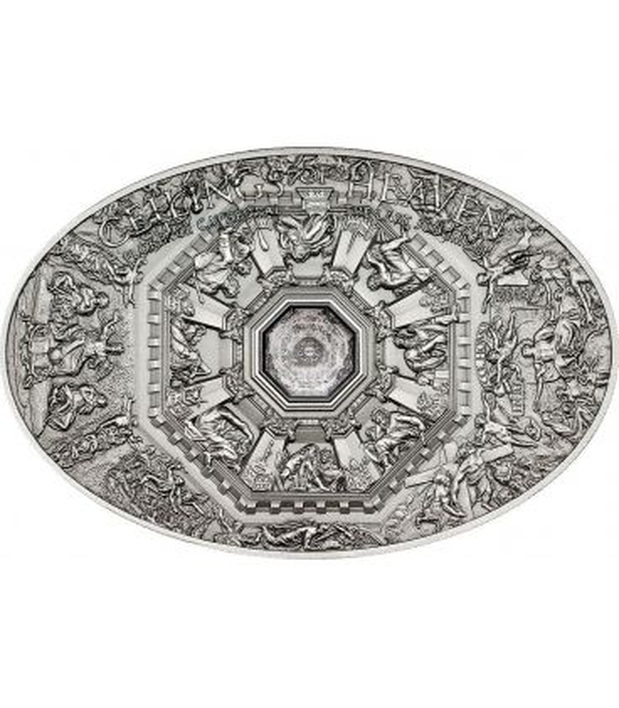 NANO LAST JUDGMENT Duomo Firenze Ceilings of Heaven Moneta Argento 5$ Cook Islands 2014