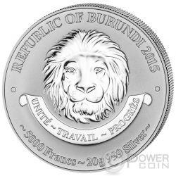 KAWASAKI KI-100 History Of Aviation Airplane Fighter Aircraft Silver Coin 5000 Francs Burundi 2015
