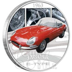JAGUAR E-TYPE XKE Sports Cars Moneda Plata 1$ Tuvalu 2006