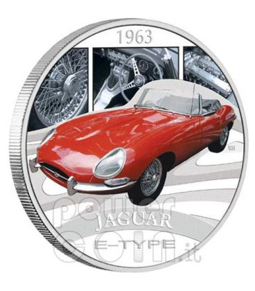 JAGUAR E-TYPE XKE Sports Cars Silver Coin 1$ Tuvalu 2006