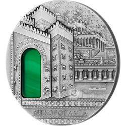 MESOPOTAMIA Imperial Art Agate Crystal 2 Oz Silver Coin 10$ Niue 2014
