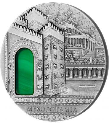 MESOPOTAMIA Imperial Art Cristallo Agata 2 Oz Moneta Argento 10$ Niue 2014
